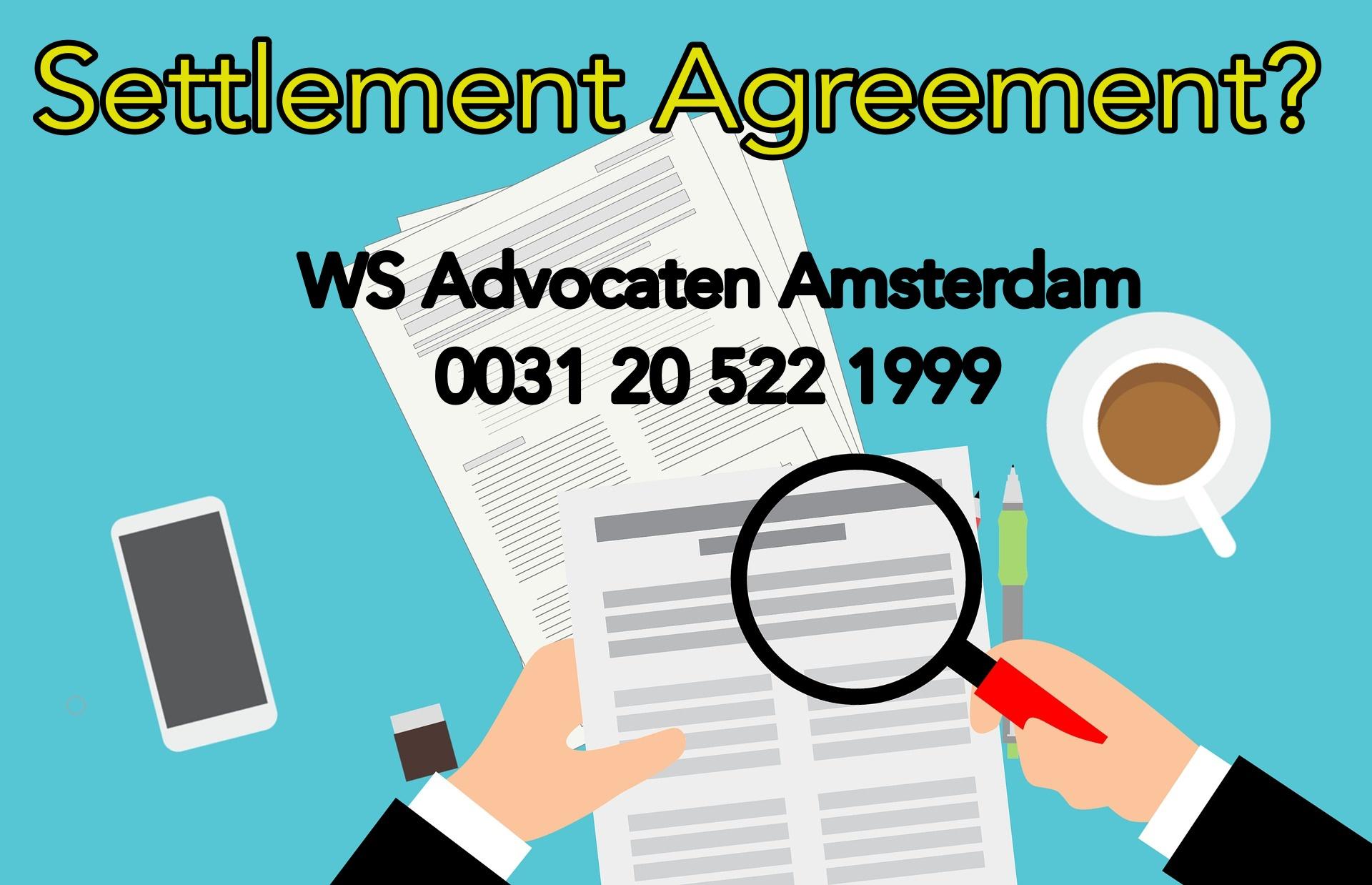 settlement agreement Amsterdam
